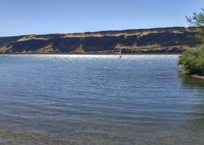 Columbia River Peach Beach Panorama