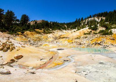 Lassen Volcanic sulfur lake