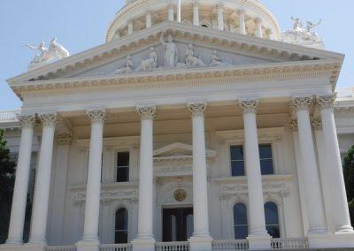 Sacramento capitol back side