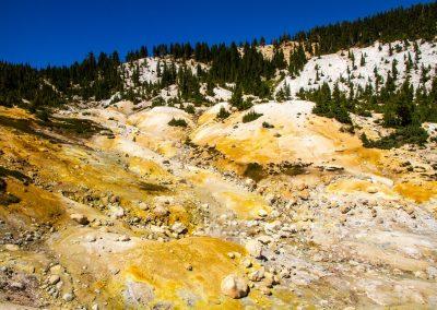 sulfur vista Lassen Volcanic