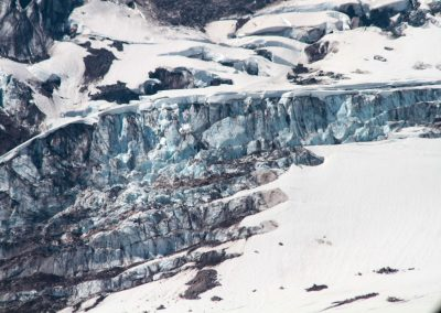close up glacier Mt. Rainier
