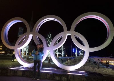 olympic sign downtown Whistler