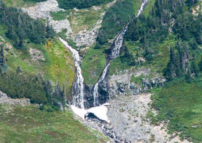 waterfalls Mt Rainier National Park