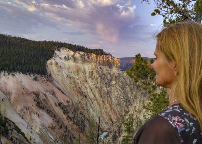 Yellowstone canyon sunset