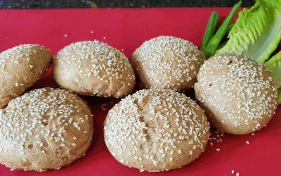 Homemade burger buns