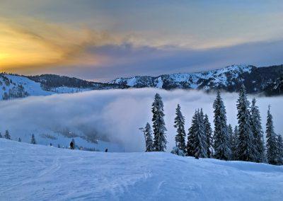 Sunset Stevens Pass