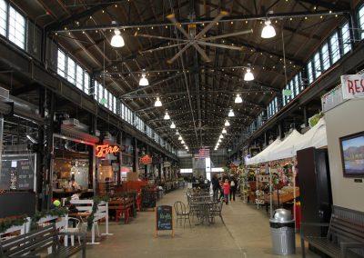 Wenatchee public market stalls