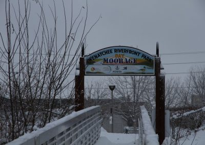 sign Wenatchee riverfront park